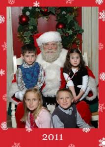 With Santa - Dec 2011
